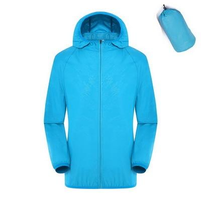 Quick Dry Waterproof  Hiking Jacket - Lake Blue / S