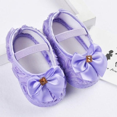 Princess Pre-Walkers Soft Shoes - Purple / 0 - 6