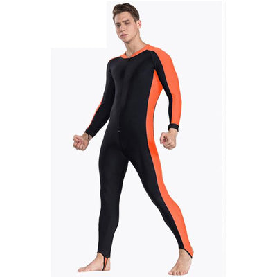 Anti UV Diving Wetsuit - Men Orange / S