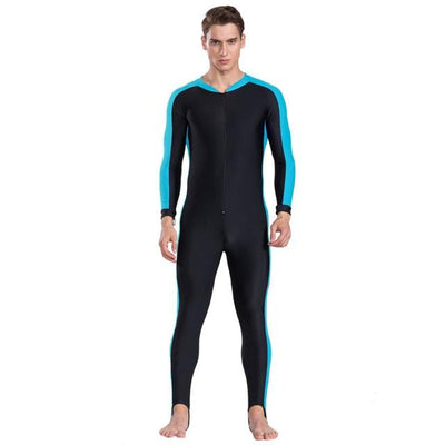 Anti UV Diving Wetsuit - Men Sky Blue / S
