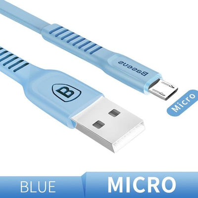 Ultra-Quick Charging Data Cable - 25cm / Micro / Blue
