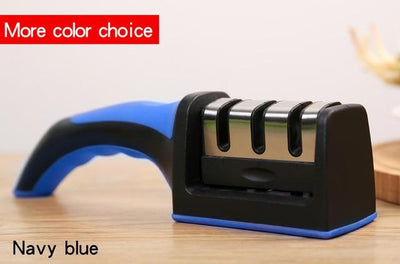 3 Stages Knife Sharpener - Navy Blue