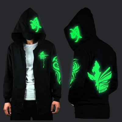 Blue Rave Ghost Hoodie - Need green light to / XXS