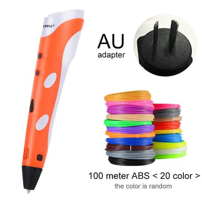 3D Doodler Printing Pen - Orange AU-100m ABS