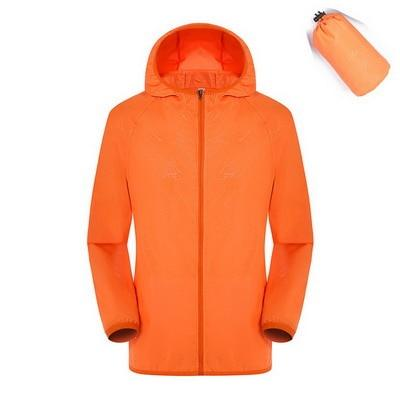 Quick Dry Waterproof  Hiking Jacket - Orange / S