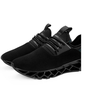 Breathable Athletic Shoes - Black / 6.5