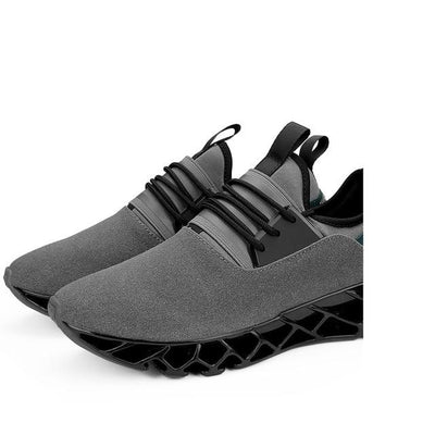 Breathable Athletic Shoes - Gray / 6.5