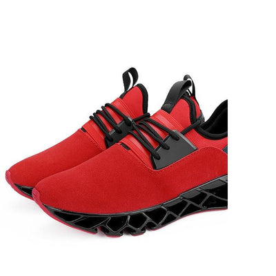 Breathable Athletic Shoes - Red / 6.5