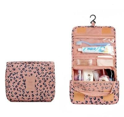 Hanging Washing Bags - Pink Leopard