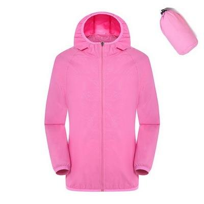 Quick Dry Waterproof  Hiking Jacket - Pink / S