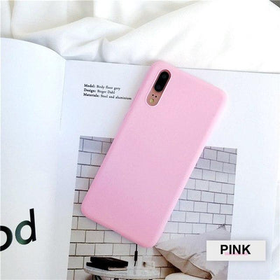 Silicone Huawei Flip Case - Pink / Honor 9 lite