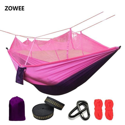 Outdoor Hammock Tent - Purple and Pink