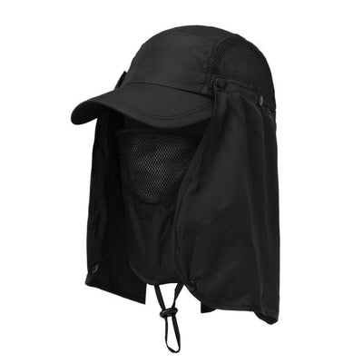 UV Protection Hiking Visor Hat - Black / L