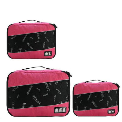 Professional Cube Packing Bags - Rose Pink
