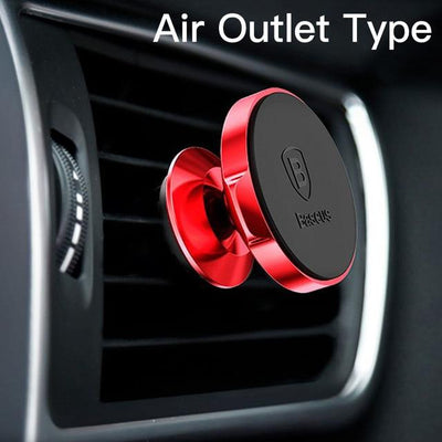 Magnetic Car Mount Phone Holder - Red Air Vent