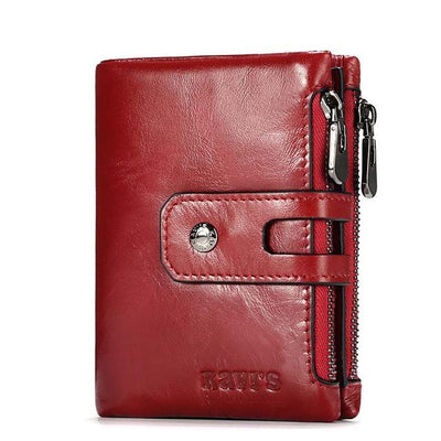 Mens genuine leather wallet - Red