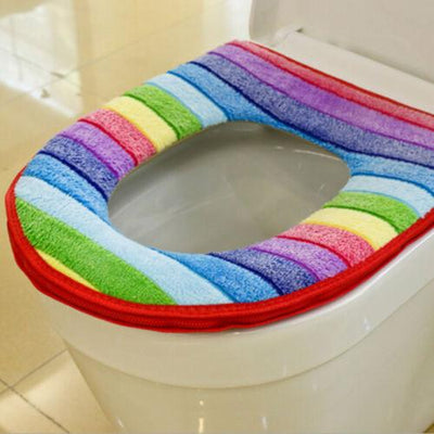 Rainbow Toilet Seat Cover - Red