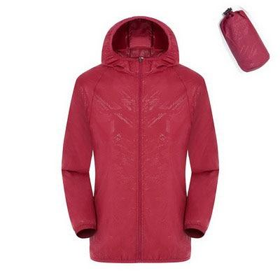 Quick Dry Waterproof  Hiking Jacket - Red / S