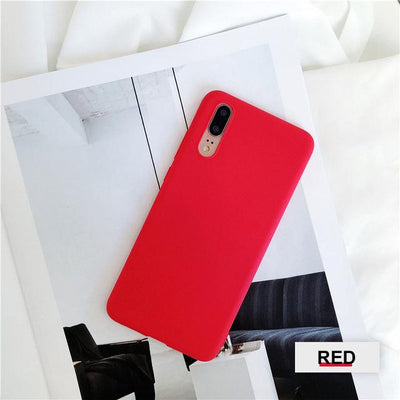 Silicone Huawei Flip Case - Red / Honor 9 lite
