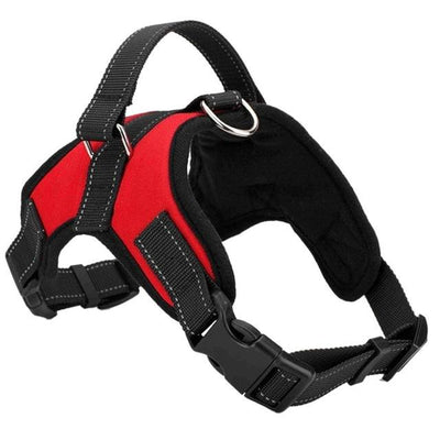 Adjustable Dog Vest Harness - Red / S