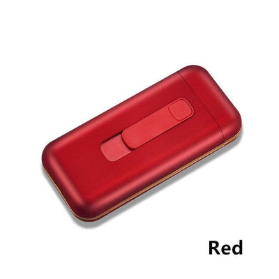 Cigarette Case With Lighter - Red