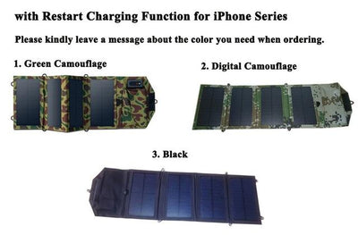 8W Portable Solar Panel Charger - Restart Charging