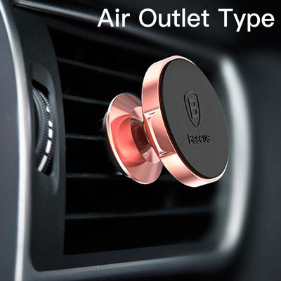 Magnetic Car Mount Phone Holder - Rose Gold Air Vent
