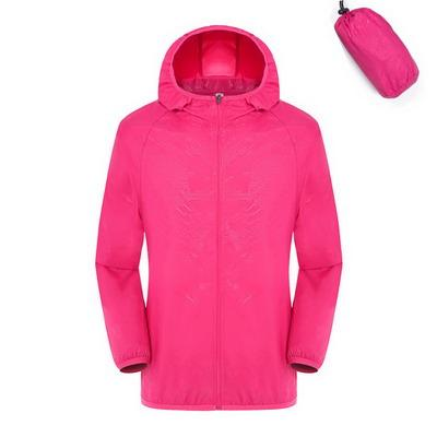 Quick Dry Waterproof  Hiking Jacket - Rose / S