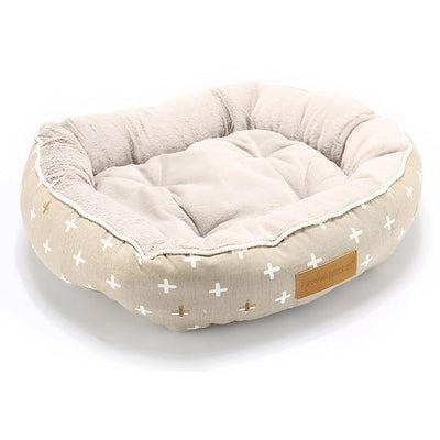 Orthopedic Dog Bed On Sale - Round Beige Spot Bed / Medium