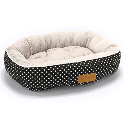 Orthopedic Dog Bed On Sale - Round Black Spot Bed / Medium