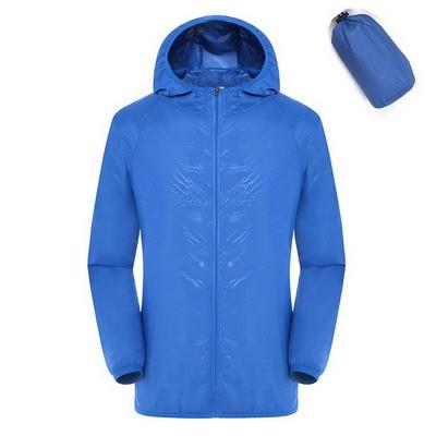 Quick Dry Waterproof  Hiking Jacket - Royal Blue / S