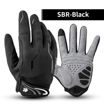 Shockproof Touch Screen Cycling Gloves - SBR Black / M