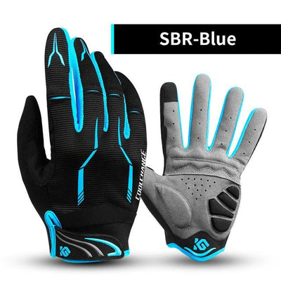 Shockproof Touch Screen Cycling Gloves - SBR Blue / M