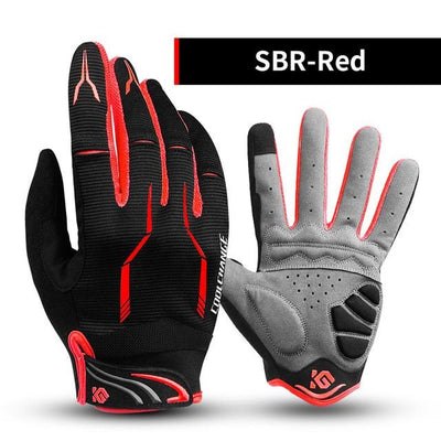 Shockproof Touch Screen Cycling Gloves - SBR Red / M