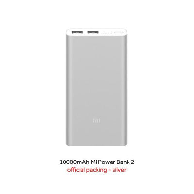 Dual-USB 10000 mAh Mi Power Bank - Silver