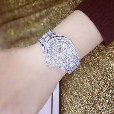 Luxury Diamond Watch - STEEL SILVER