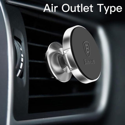 Magnetic Car Mount Phone Holder - Silver Air Vent
