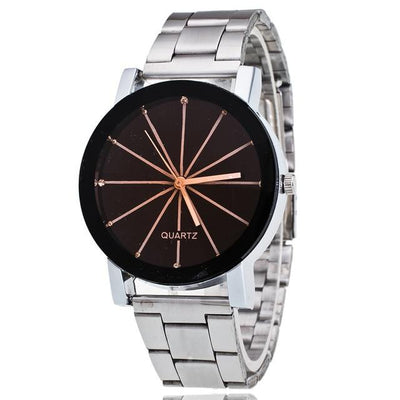 Quartz Wristwatch Bracelet - Silver Black8