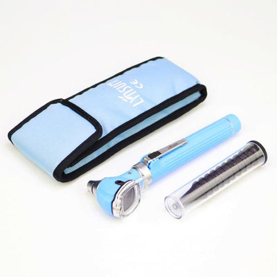 Compact Pocket Size Fiber Optic Otoscope - Sky Blue