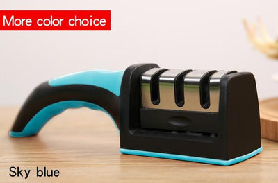3 Stages Knife Sharpener - Sky Blue