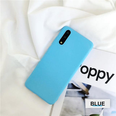 Silicone Huawei Flip Case - Sky Blue / Honor 9 lite