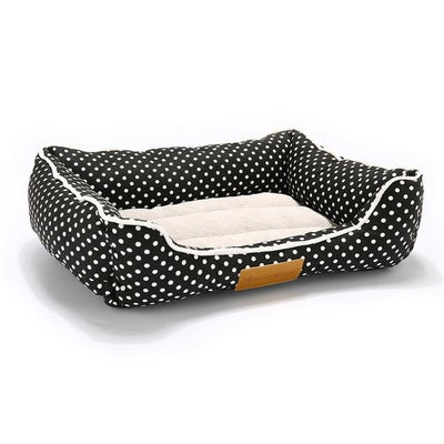 Orthopedic Dog Bed On Sale - Square Black Spot / Medium