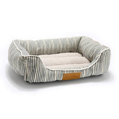 Orthopedic Dog Bed On Sale - Square Blue Strip / Medium