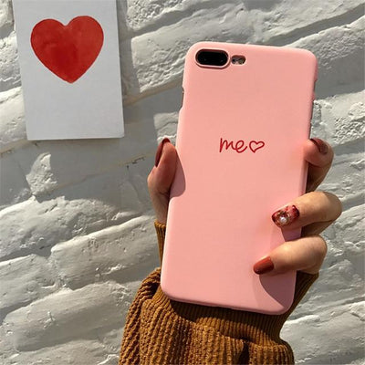 Cute Heart Print iPhone Case Cover - iPhone 8 Plus / Style 13