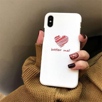 Cute Heart Print iPhone Case Cover - iPhone 8 Plus / Style 14