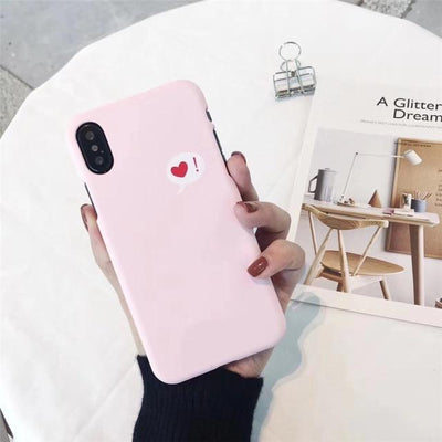 Cute Heart Print iPhone Case Cover - iPhone 8 Plus / Style 19