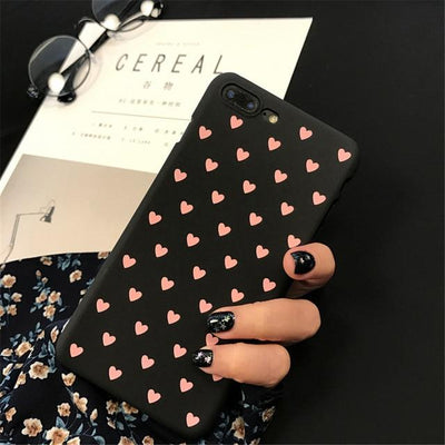 Cute Heart Print iPhone Case Cover - iPhone 8 Plus / Style 4