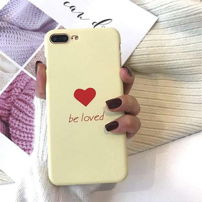 Cute Heart Print iPhone Case Cover - iPhone 8 Plus / Style 5