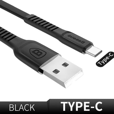 Ultra-Quick Charging Data Cable - 25cm / Type-C / Black