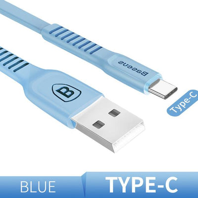 Ultra-Quick Charging Data Cable - 25cm / Type-C / Blue